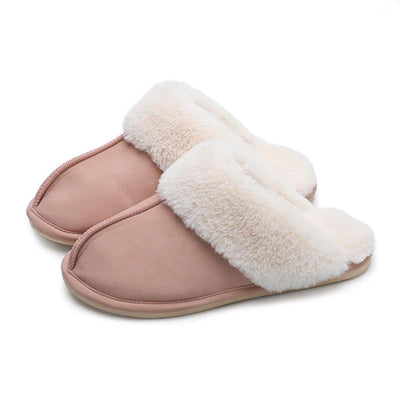Men and Women Winter Thick  Indoor Home Non-slip Soft Bottom Warm Cotton Slippers