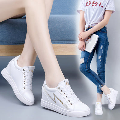 Women's wild thick bottom slope casual shoes