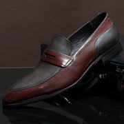 Men's leather business matte suede leather shoes