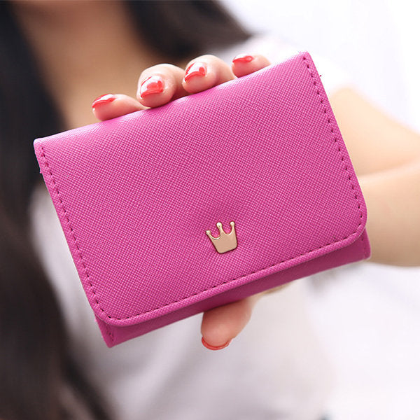 138994 Women PU Leather Card Holder Coin Bag Cute Trifold Wallet