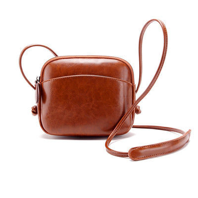 139005  Women's Summer Leather Mini Shell Shoulder Crossbody Bag
