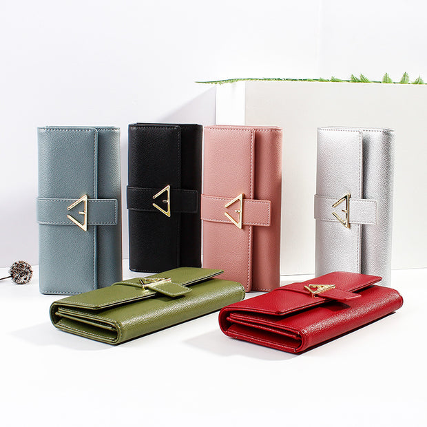 139276 Women's wallet long buckle wallet Korean version of the clutch bag Fashion multi-card mobile phone bag wallet