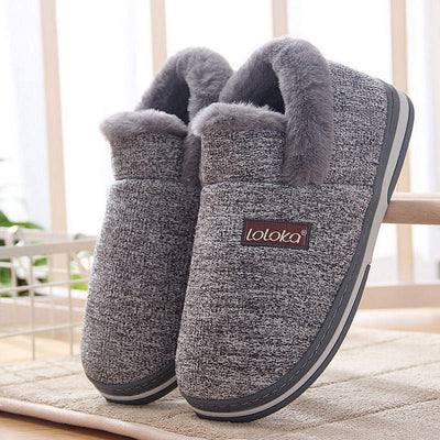 Men's Cotton slippers men's home warm home bag with cotton shoes indoor non-slip winter men's cotton slippers