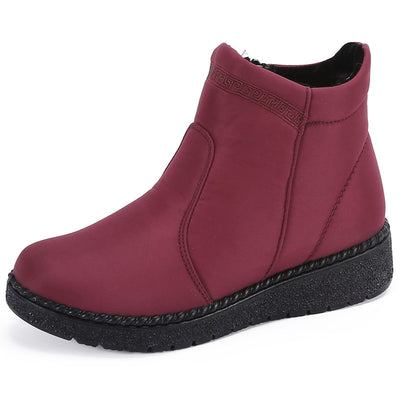 Women's  Old Beijing cotton shoes women winter cotton boots women's shoes waterproof thick short zipper middle-aged mother shoes warm cotton shoes