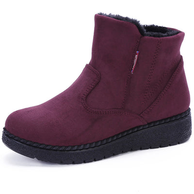 Women's Old Beijing cloth shoes winter boots large size shoes mother shoes middle-aged shoes casual plus velvet thick warm shoes