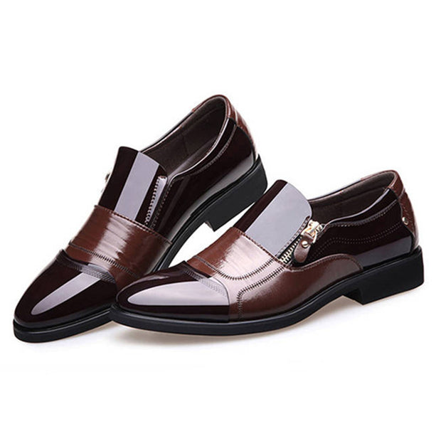 Men's business shoes pointed head dress shoes large size