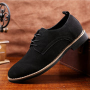 Men's shoes leather shoes PU suede shoes large size casual shoes leather shoes