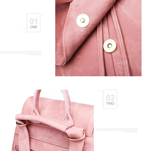 Women's  Fashion Bags New Trend PU Leather Women's Backpack  Tassel Backpack