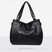 Women's bag new middle-aged ladies single shoulder diagonal bag large capacity mother bag soft leather tote bag