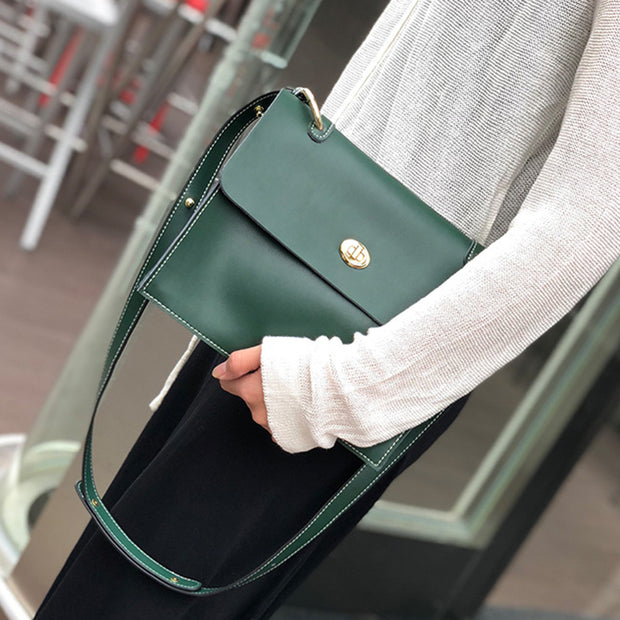 Women's Leather Bag  Messenger Bag Women's Small Square Bag Trend Wild Leather Shoulder Bag