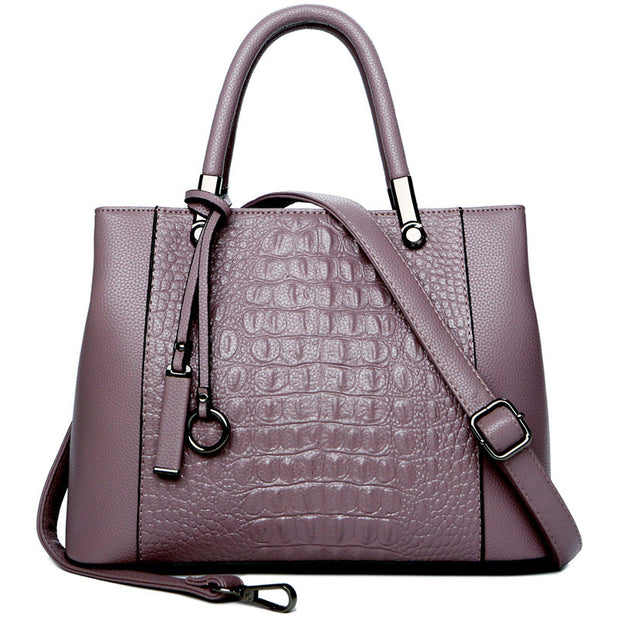 Women's fashion wild crocodile pattern handbag leather female bag