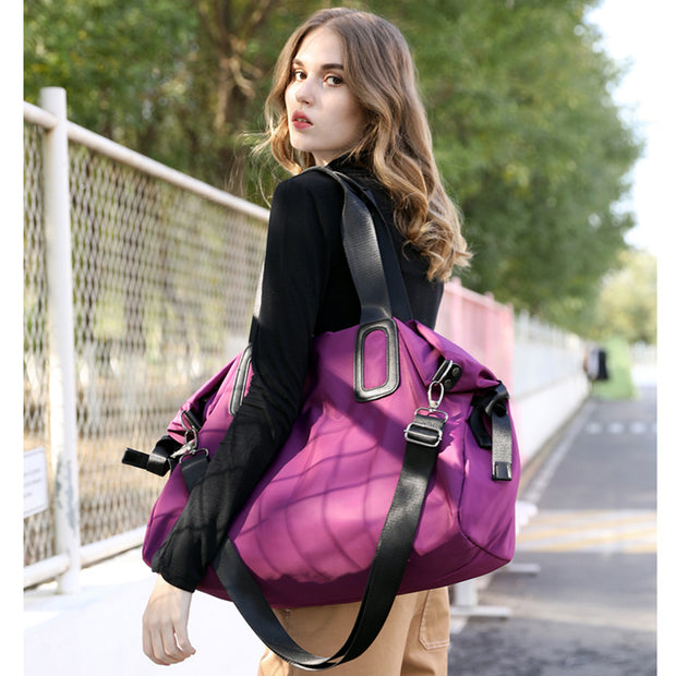 Women's Large-capacity one-shoulder portable travel bag waterproof nylon bag