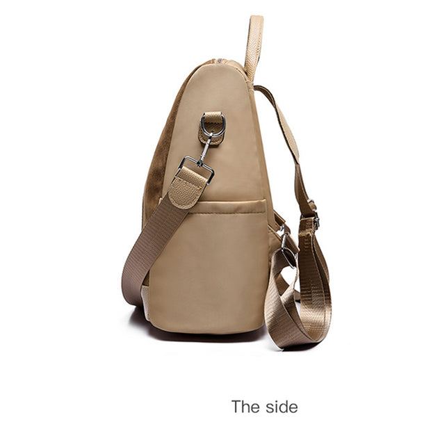 Women's Trend new ladies backpack creative fashion retro backpack Korean solid color handbags