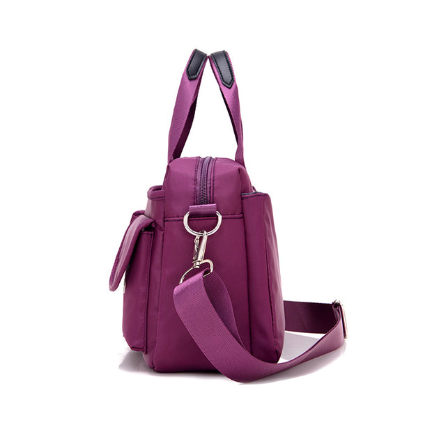 Nylon Multi pockets Lightweight Shoulder Bags Waterproof Fashion Crossbody Bag for Woman