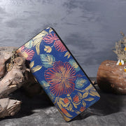 Women's national style hand-painted  zipper wallet