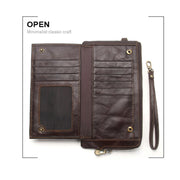 Men's Wallet Leather Multifunctional Fashion Antimagnetic RFID Purse Wallet