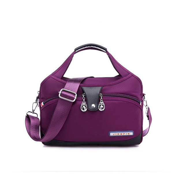 Women's new fashion casual solid color shoulder bag large capacity canvas bag ladies messenger bag