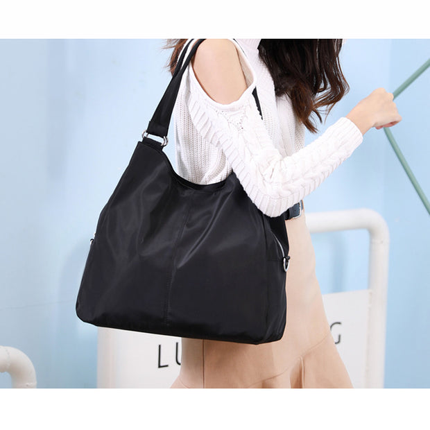 Women's Large Capacity Shoulder Messenger Bag Lightweight Mummy Bag Trendy Handbag Waterproof Nylon Bag