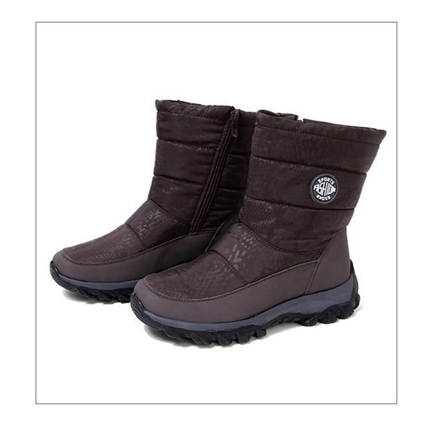 Women's  winter warm snow boots  plus velvet plus size non-slip middle tube boots cotton shoes