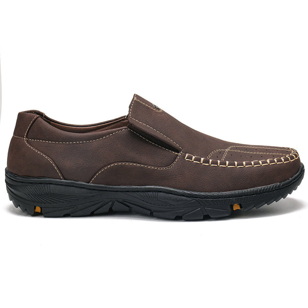 Men Comfy Microfiber Leather Loafers Slip On Soft Casual Shoes