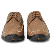 Men Hand Stitching Leather Non Slip Soft Casual Shoes