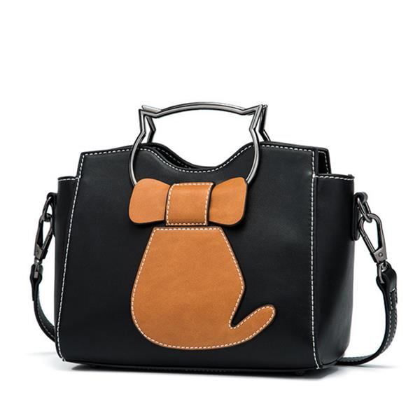 Women's Cute Cat Pattern Handbag Large Capacity Leisure Shoulder Bags