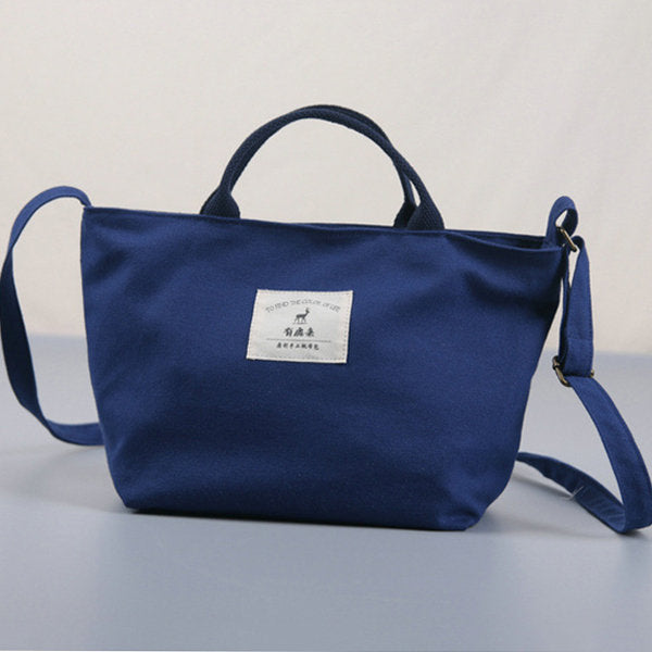Women's Canvas Solid Casual Women Shopping Bag Handbag
