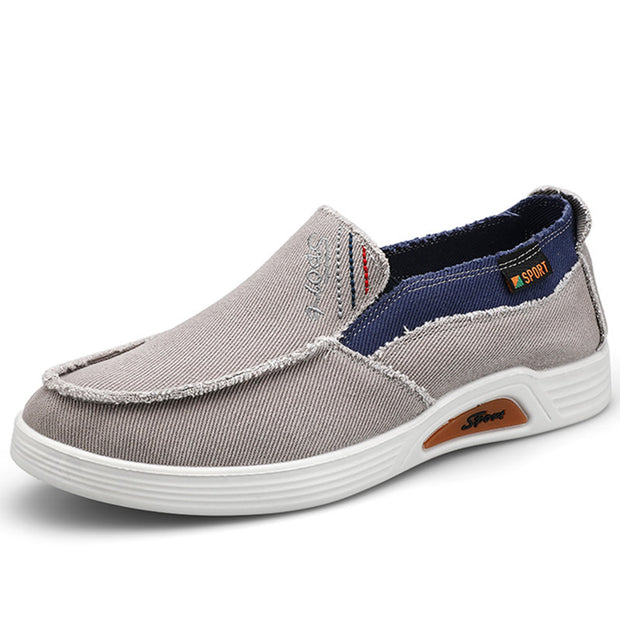 Men Canvas Non Slip Comfy Slip On Casual Shoes