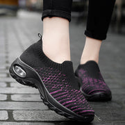 Women's shoes lace-up air cushion fly-woven sneakers fashion shake shoes casual shoes wild socks