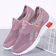 Women Breathable Slip On Mesh Walking Sport Shoes