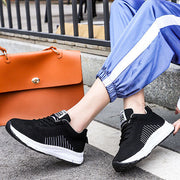 Women Mesh Breathable Comfortable Non Slip Flat Sneakers Shoes
