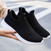 Women Plus Size Casual Walking Light Knit Soft Flat Sneakers