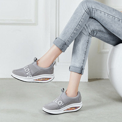 Women Casual Outdoor Rocker Sole Slip On Platform Sneakers