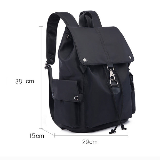 Women's simple casual backpack full waterproof Oxford nylon large capacity travel bag school bag