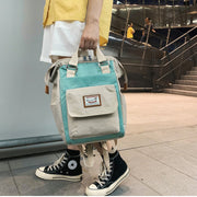 Donut backpack female 2019 new fashion college student bag ins Korean high school backpack male large capacity