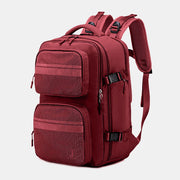Women's Canvas Multifunction Waterproof Casual Patchwork Backpack