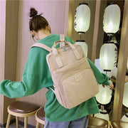 Women's Nylon Waterproof Large Capaticy Casual Backpack School Bag
