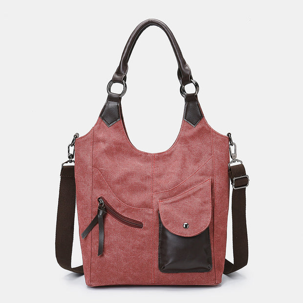 Women's Canvas Vintage Large Bag Crossbody Bag