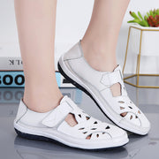 Women Split Leather Comfortable Casual Flat Shoes