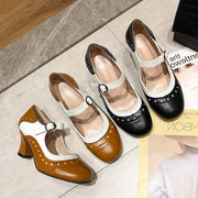 Women's high-heeled Lolita Merulu small new female Lolita quality autumn leather shoes
