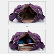Women Nylon Large Capacity Waterproof Travel Shoulder Bag Crossbody Bag