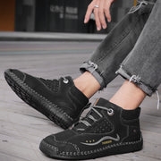 Men's high-top shoes handmade casual shoes breathable warm cotton shoes