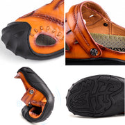 Men's Anti-collision Toe Adjustable Heel Strap Outdoor Leather Sandals