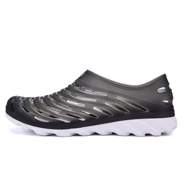 Men's breathable easy hole shoes wholesale strand empty sandals