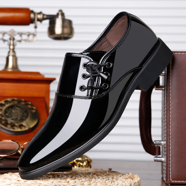 Men Classic Patent Leather Formal Dress Shoes