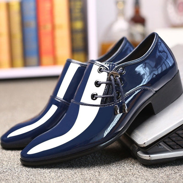 Large Size Men Stylish Pure Color Comfy Business Formal Dress Shoes