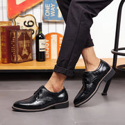 Men Large Size Cow Leather Formals Business Shoes