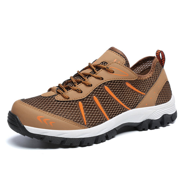 Men Mesh Slip Resistant Wear Resistant Hiking Outdoor Shoes Large Size