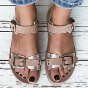Women Comfy All Season Buckle Flat Sandals