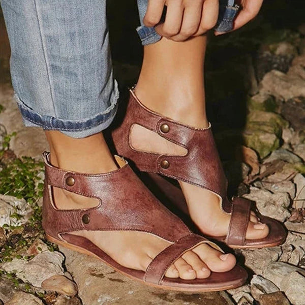 Women Sandals Flat Gladiator Thong Casual Summer Sandals